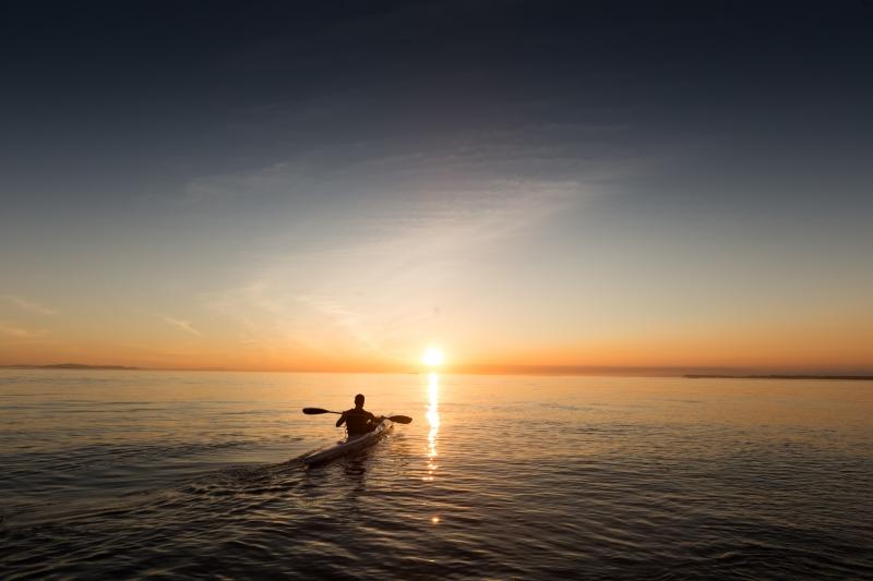 Sortie crépusculaire en kayak